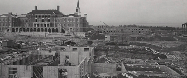 Carswell Hall under construction