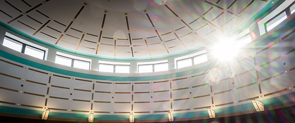 Worrell Professional Center library rotunda.